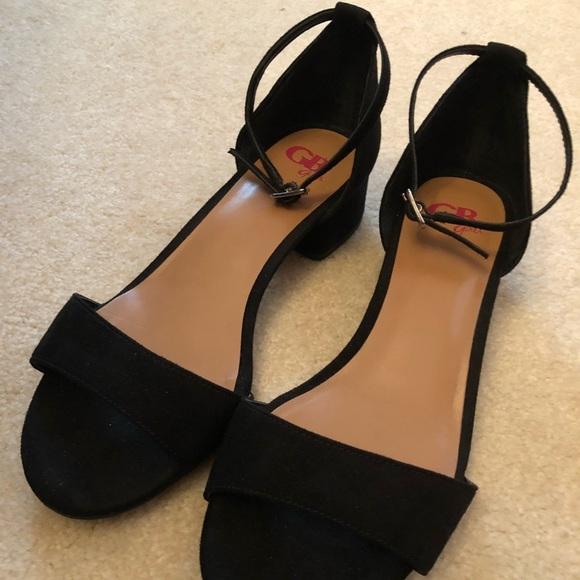 4260704ee GB girls Shoes | Ankle Strap Black Heel Sandals Size 4m | Poshmark